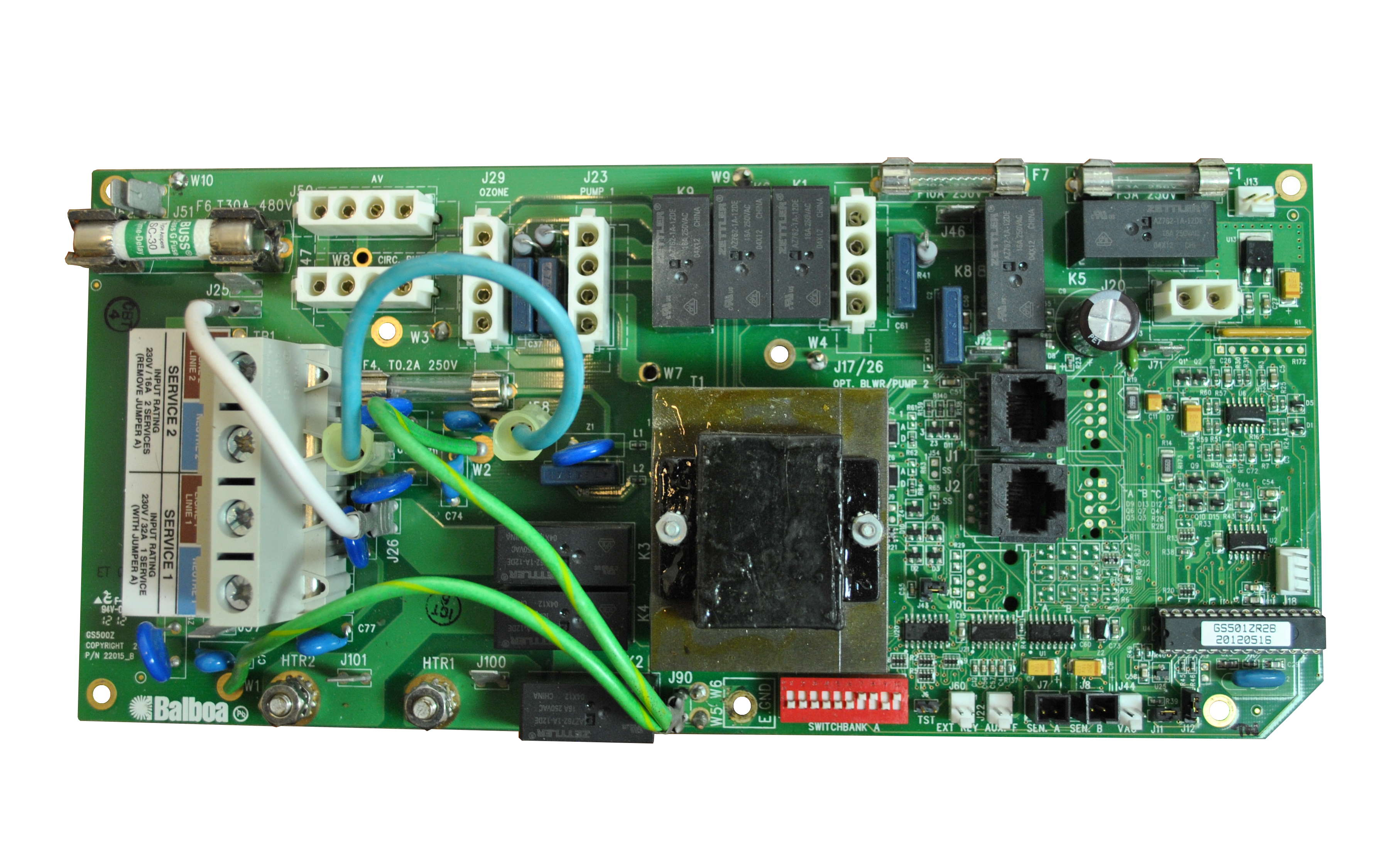 Balboa P/N 53340-04 Replacement Circuit Board for GS500 spa Pack