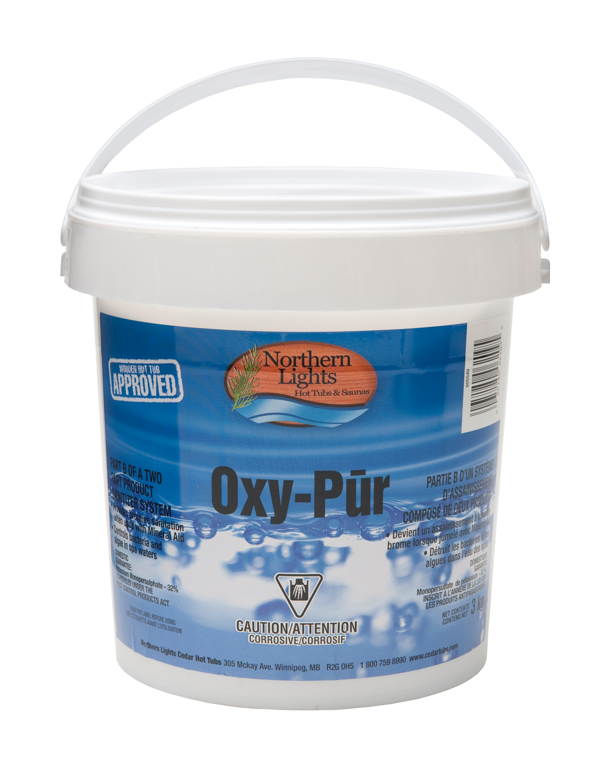NLCT-OXY PUR-Part 2 of 2 part Bromine Sanitizer - 3 Kg