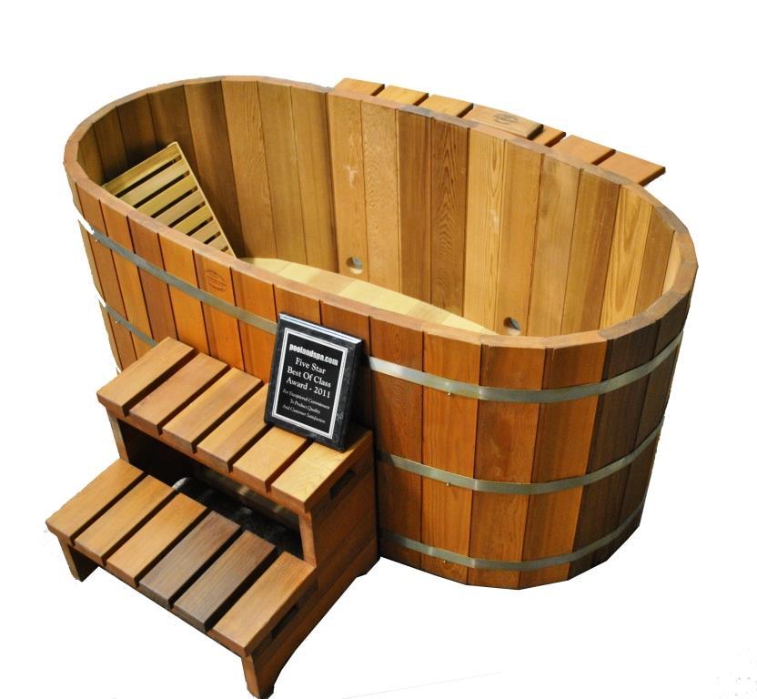 japanese wood soaking tub.  Japanese Wood Ofuro Soaking Tub for 2 Fired Heater with Cedartubsdirect