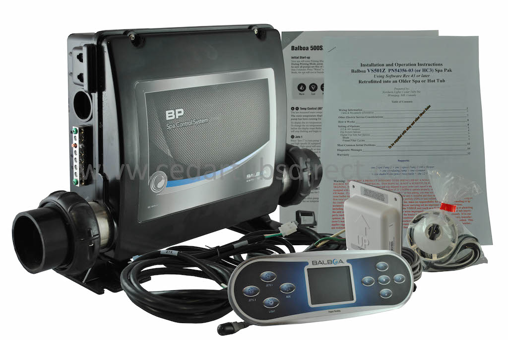 Balboa BP2000 Retro Fit Kit- - Spa Pack with TP800 Controller cables on